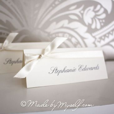 'Tied Ribbon' Place Card